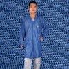 Antistatic diamond knitted coat
