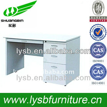 MDF cheap office furniture computer tables with file cabinet