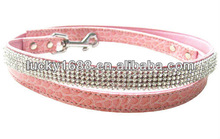 pink crystal dog lead dog show leads pet collar and leash retractable dog leash pet product