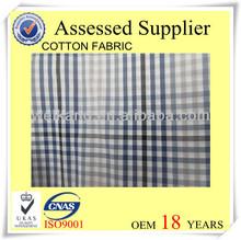 Checked pattern plaid cotton fabric
