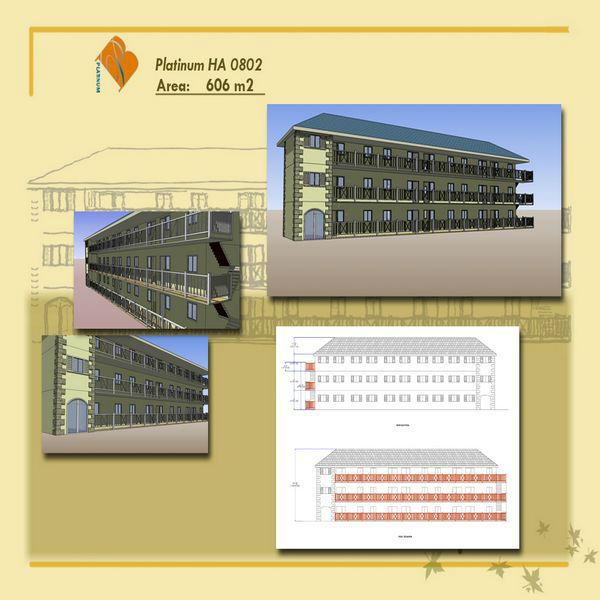 Modern Steel Framing Hotel