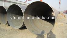 3PE 3PP FBE black varnished coating large size spiral welded steel pipe for oil and gas transpotation
