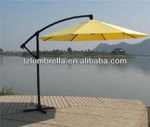 Aluminum hanging banana umbrella bright yellow color