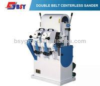 Double belt centerless sander with fan motor