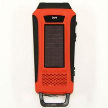 HY-016 LCD Emergency Survival Solar Hand Crank Self Powered AM/FM/WB(NOAA) Digital Radio + Flashlight+Smartphone Charger