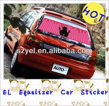 3M Aluminum gel el car sticker/3 M back glue/Door-to-door delivery