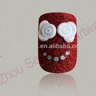 Happy smile face 3D nail art decoration beauty nail tips
