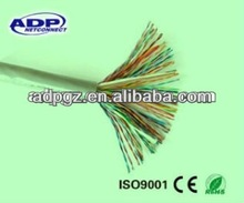 70 degree indoor pvc, 150 degree PE outdoor telephone cable/cat3 cat5 e copper cable