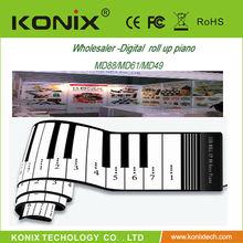 wholesale low price Portable Roll Up 49 Keys Soft Electronic Digital Keyboard Piano Music Organ