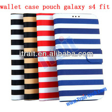2013 Hottest Selling wallet case pouch galaxy s4 fit