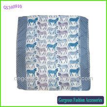 Colorful zebra scarf polyester
