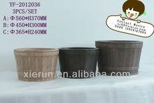 2013 Fiberglass garden pot,pottery planter,textured fiber clay flower pot,sandstone