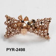 crystal hair bow pin pearl barrette making supplies