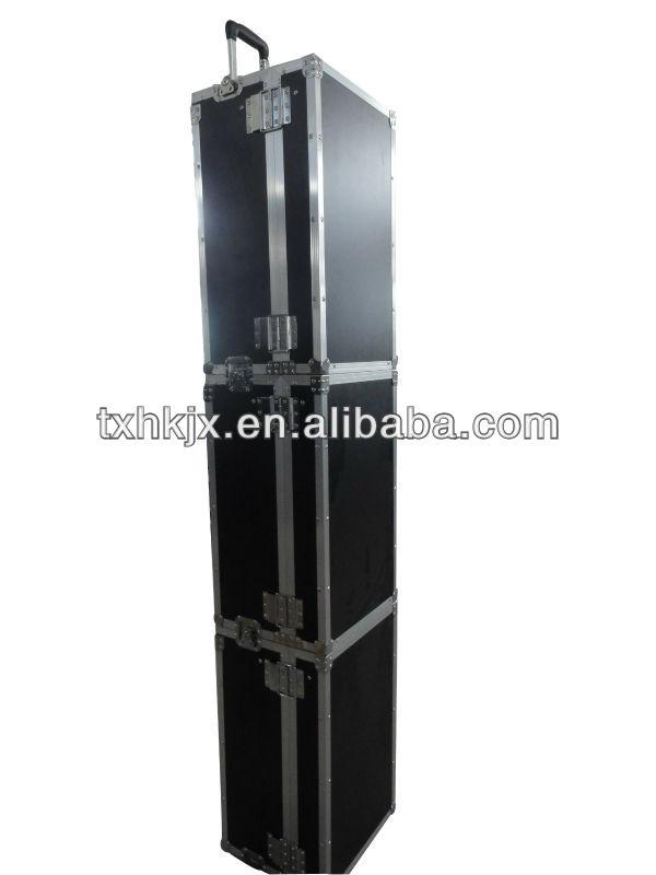 Portable aluminum tool box,box with wheels and handles