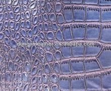 Crocodile pattern/pu synthetic leather
