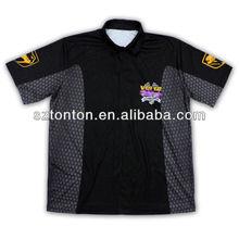 latest fashion sublimation motorcycle polo shirts customized