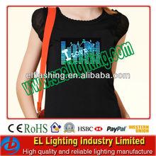 EL ladies t-shirt el glowing t-shirts