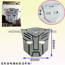 Wholesale Anime Transformers autobot Decepticons car sticker Logo Emblem Comics Auto Badge Animal Parts Glue Cartoon Superhero