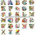 Libre del alfabeto de la máquina del bordado diseño/carta apliques de flores