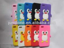 3D Lovely Penguin Silicone Case Cover for blackberry BB10 Z10 Dev Alpha B