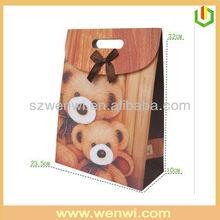 luxury fashion brand bear printing shopping paper bag
