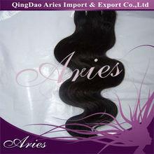100% brazilian virgin Remy human hair weft hair weave tangle free #4 dark brown hair weaving