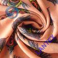 poliéster impressão de pavão tecido