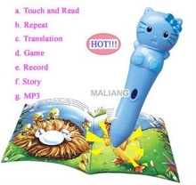 2013 Hot Sale science lovely appearane reading pen with educational posters kids