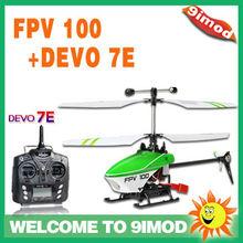Walkera FPV 100+DEVO 7E Mini Lama 4 Ch Mini Helicopter ( Normal Version)