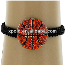 2013 hot selling sport themed cord woven adjustable bracelet -basketball