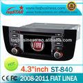Fiat linea 2008-2011 oto dvd gps navigasyon araç oynatıcı görüntü destek,ipod kontrolü, RDSişlevi st-840