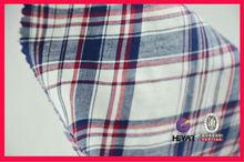 "57""/58"" yarn dyed garment fabric 100 organic cotton fabric"
