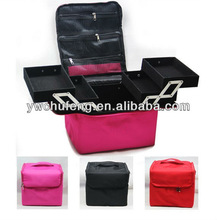 Soft Makeup Train Bag Case Pockets Artist Cosmetic Bag