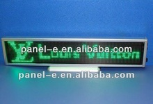 "Rechargeabel Graphic LED Desktop Screen 10""*2.5"" Green pitch 2.88mm,support Arabic,Russian and all Europe language"