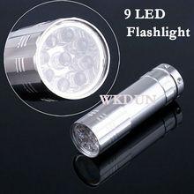 Glow ABS Aluminum 9 LED Power Style Flashlight