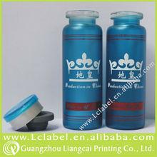 Decorative glass vials for injection cryo test vials with aluminium-plastic cap