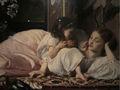 el yapımı gerçekçi Anne ve çocuk fotoğraftan yağlı boya