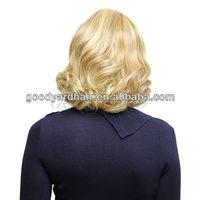 American popular 100 finest Japanese Kanekalon futura body wave natura hairline blonde full lace wigs