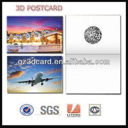 3D postcard,3D post card,plastic postcard