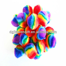Free Sample Craft Gift Toys Plush Assorted Mix Color Acrylic Pompoms for Cheerleading