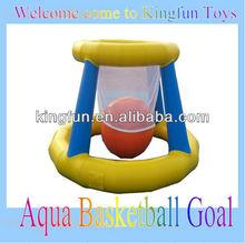 Aqua basketball game on water
