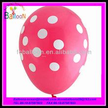 balloons latex pink with polka dot