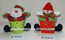2013 christmas santa and snowman colorful gift box