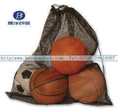 Basketball mesh bag for ball equipment