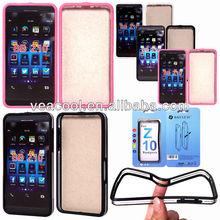 Monochrome&Clear Bumper Frame TPU Case Cover for BlackBerry Z10 BB10