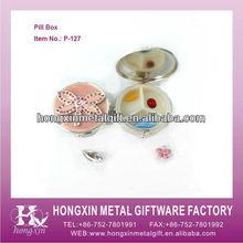 P-127 Round 3 case metal medicine organizer box