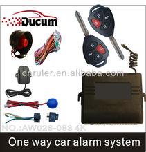 2013 Newly Basic Model One Way Car Alarm System car alarm immobilizer