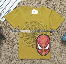 2013 fashional 100 cotton Spider-Man children t-shirt