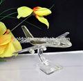 cristal modelo de avión