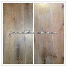 Brushed+White Washes Brushed Oak Solid Wood Flooring